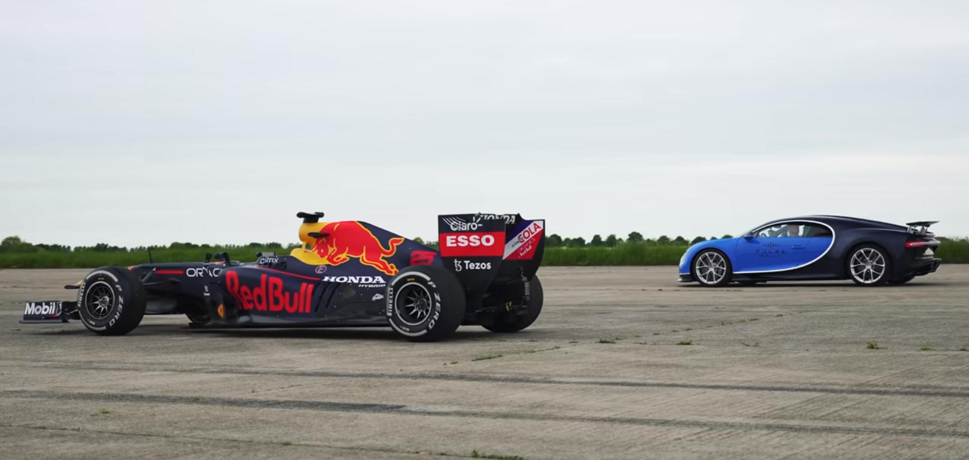 Red Bull RB7 и Bugatti Chiron