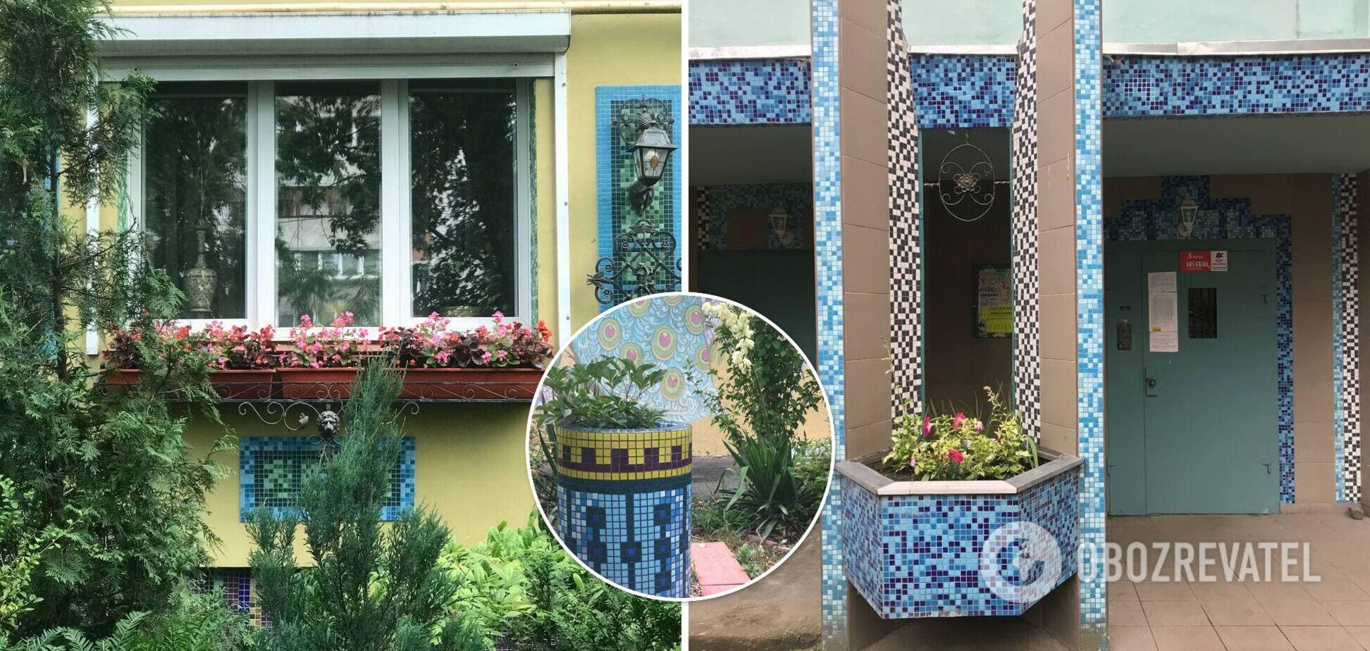 У Києві жінка перетворила двір радянської багатоповерхівки на казкову Італію. Фото
