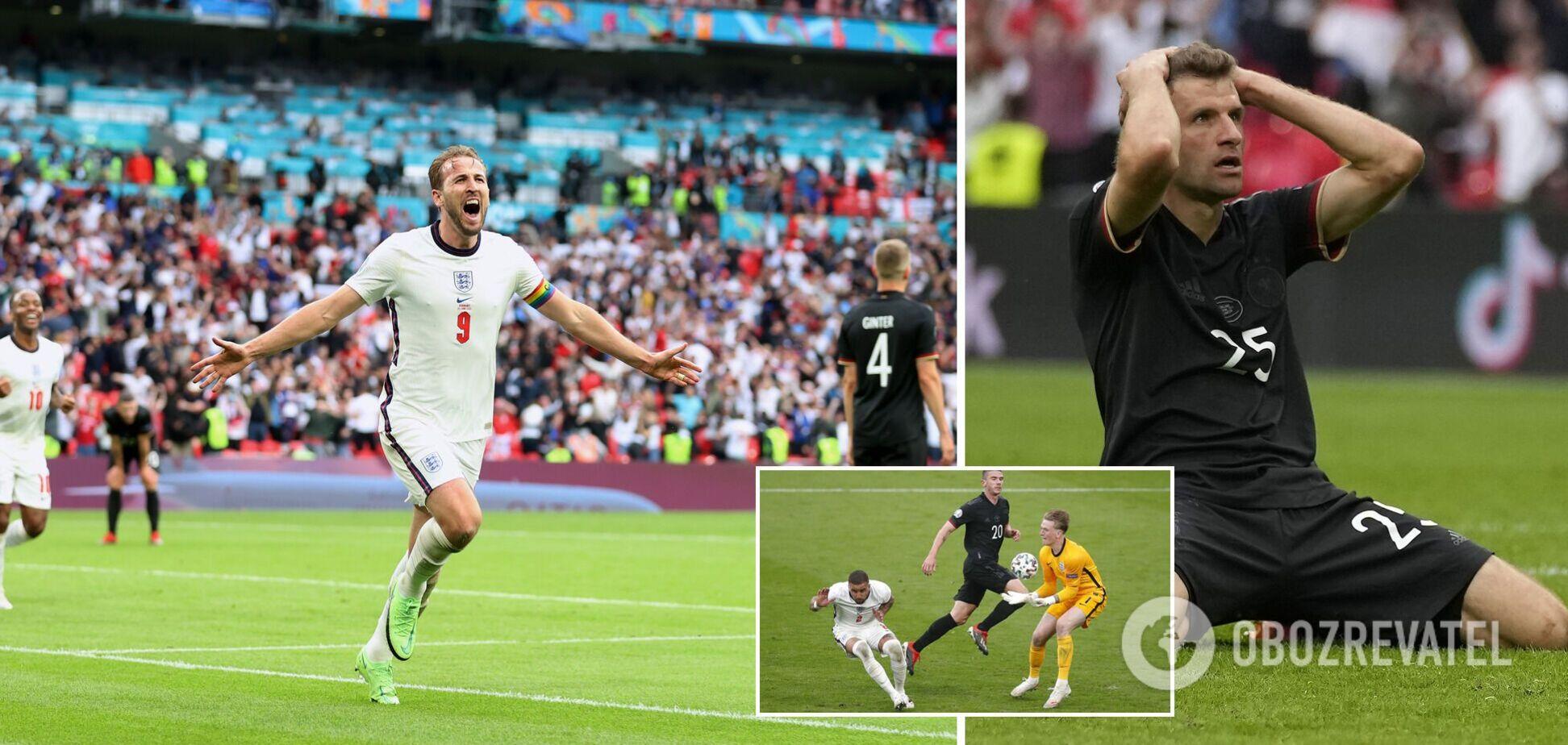 Німеччина програла Англії і вперше в історії вилетіла з 1/8 фіналу ЧЄ