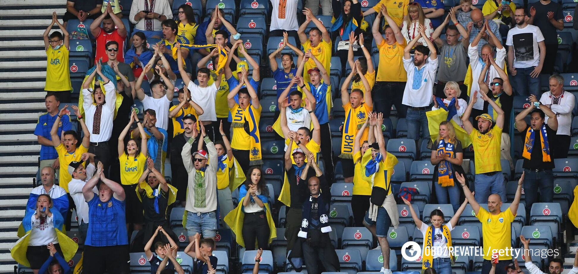 Фанати збірної України в Шотландії