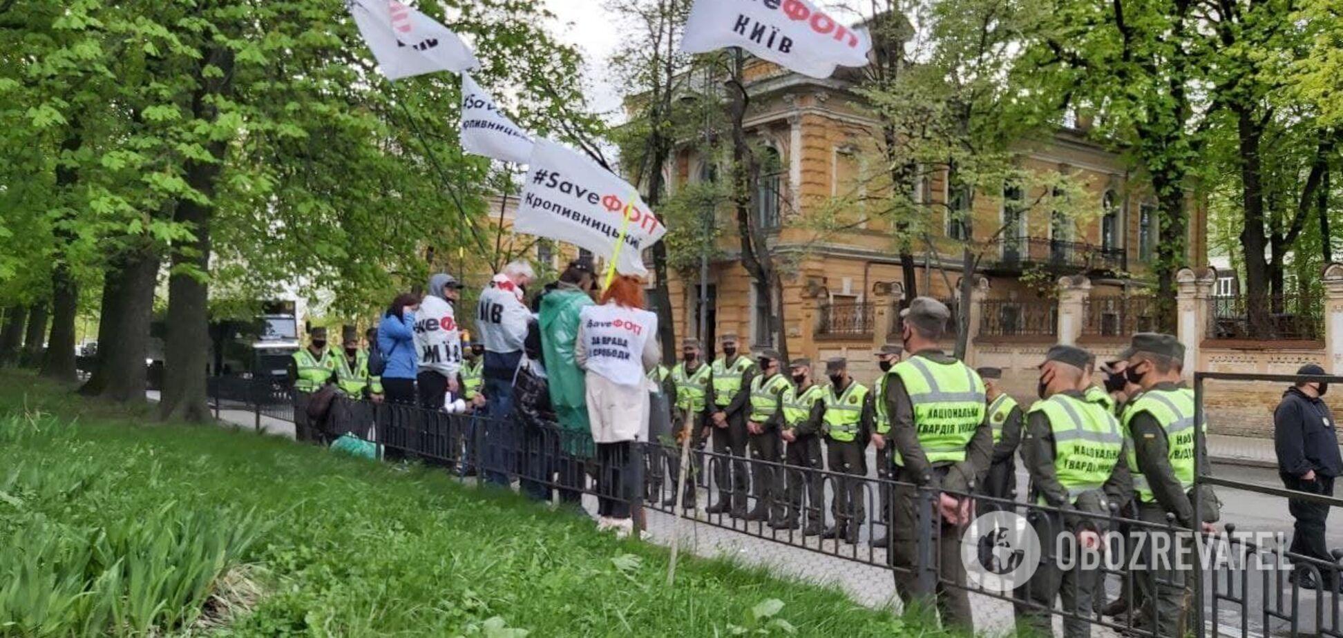 В Киеве 'ФОПы' устроили противостояние с полицией: есть задержанные. Видео