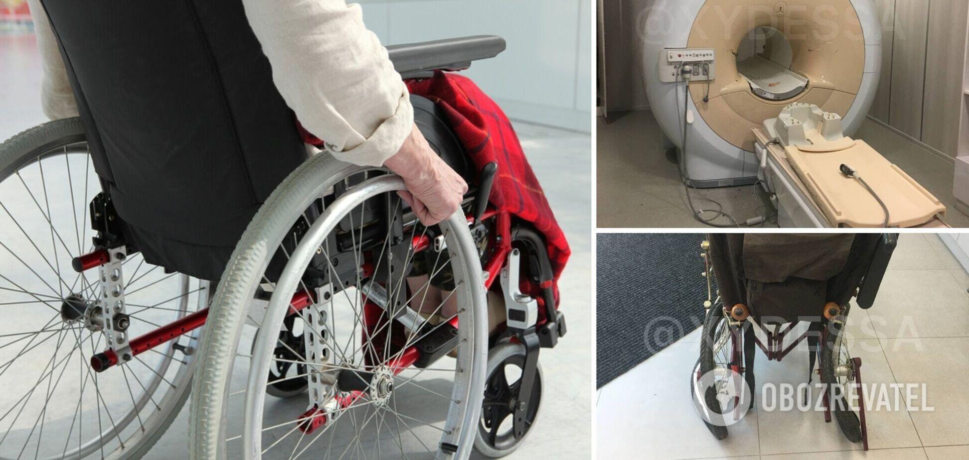В Одесі пацієнтку в інвалідному візку 'засмоктало' в апарат МРТ. Фото