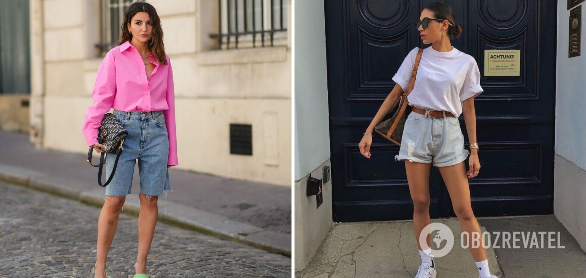 Модні джинсові шорти на літо 2021