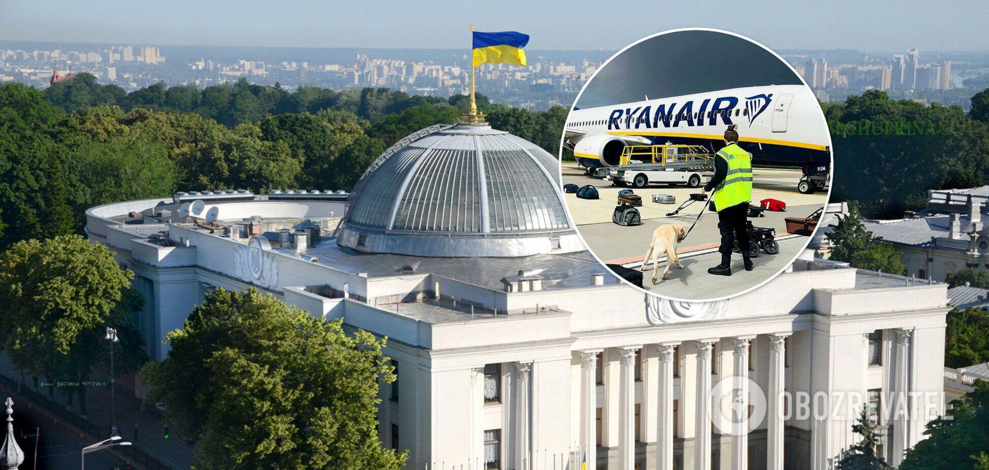 Нардепы приняли постановление об инциденте с самолетом Ryanair в Минске