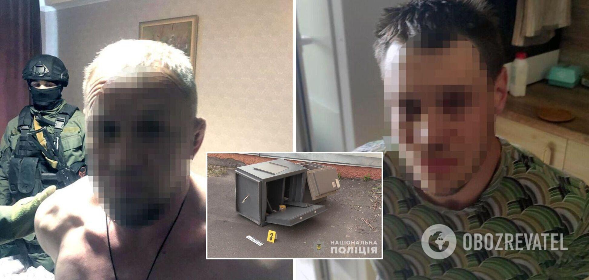 У Києві зловмисники увірвалися в офіс, зв'язали співробітника й викрали два сейфи. Фото, відео
