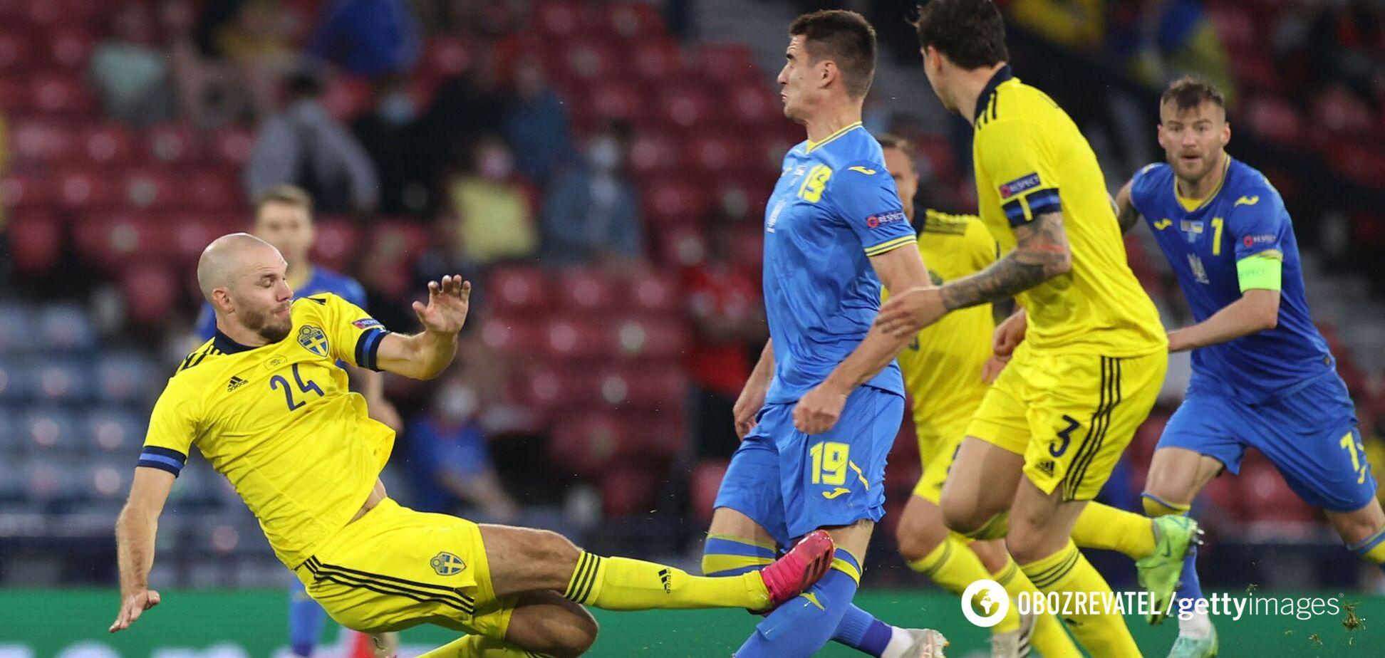 Швеция Украина травма Беседина Евро 2020