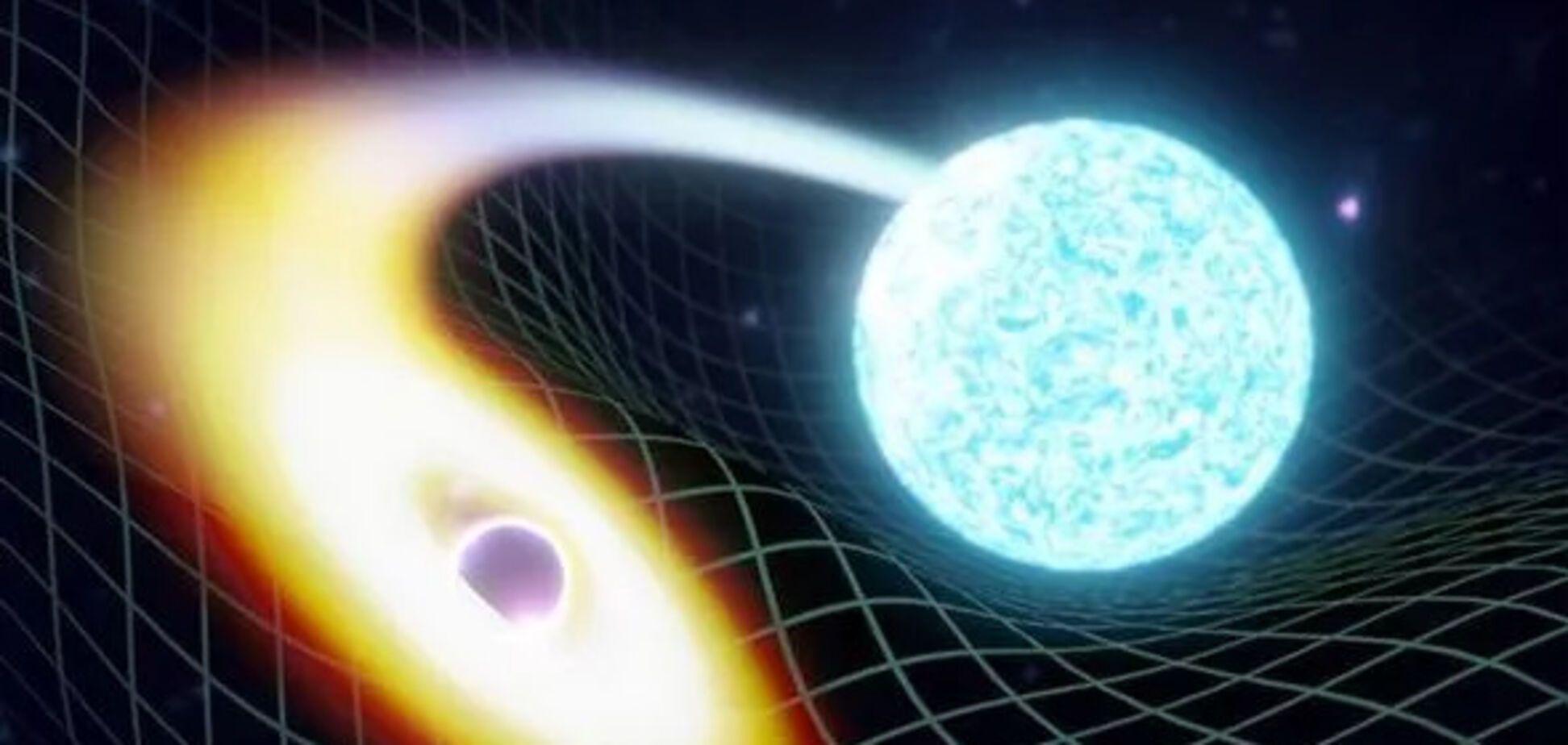 Художник зобразив злиття чорної діри і нейтронної зірки