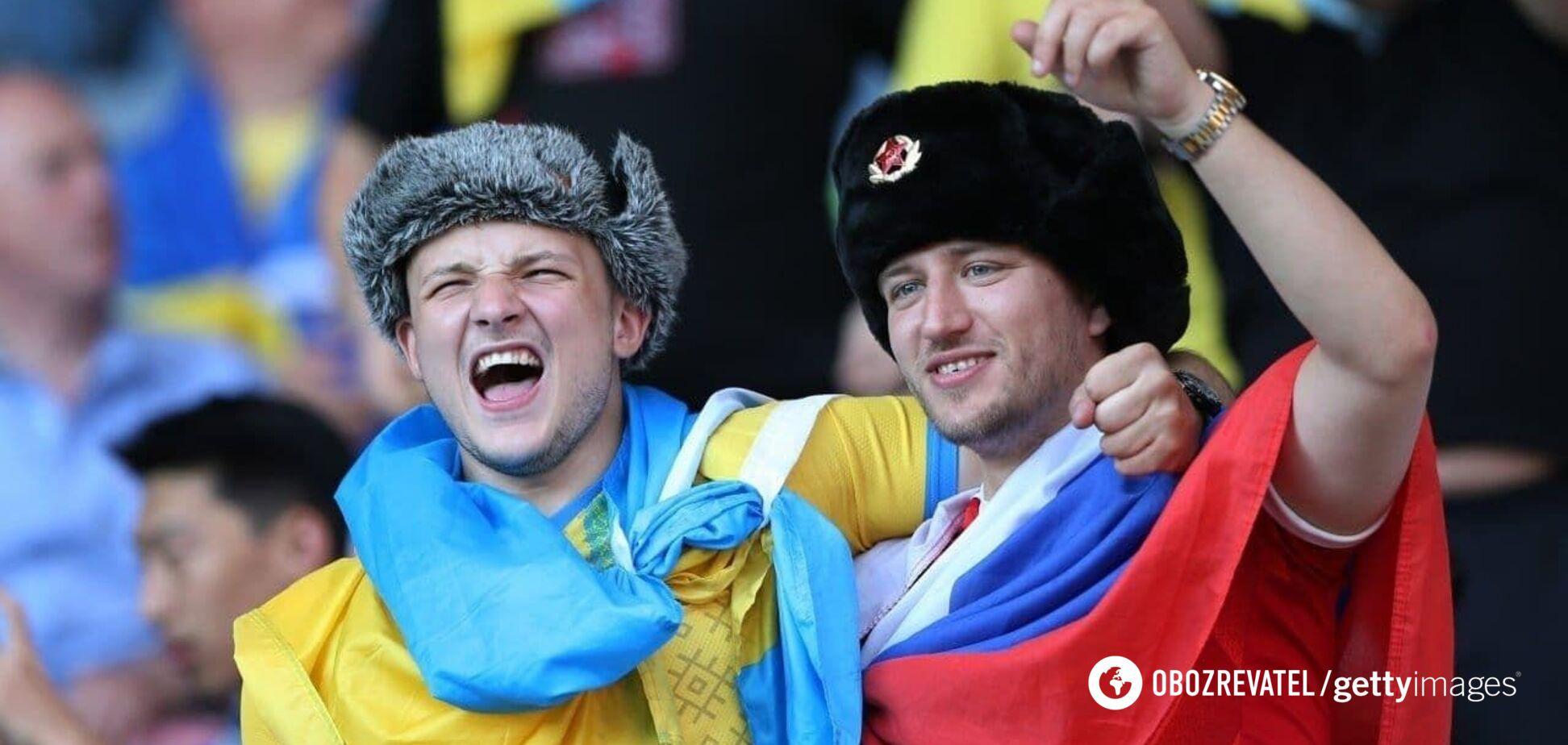 'Кого мені боятися?' Вболівальник із прапором Росії назвав Україну 'своєю країною'. Відео