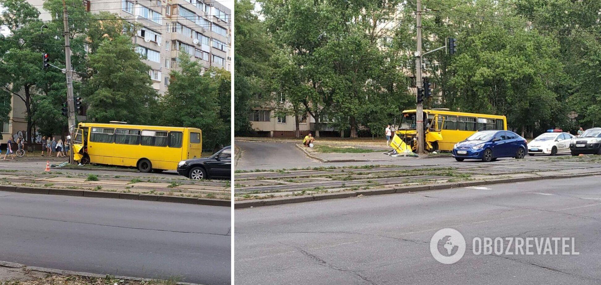 ДТП з маршруткою в Києві