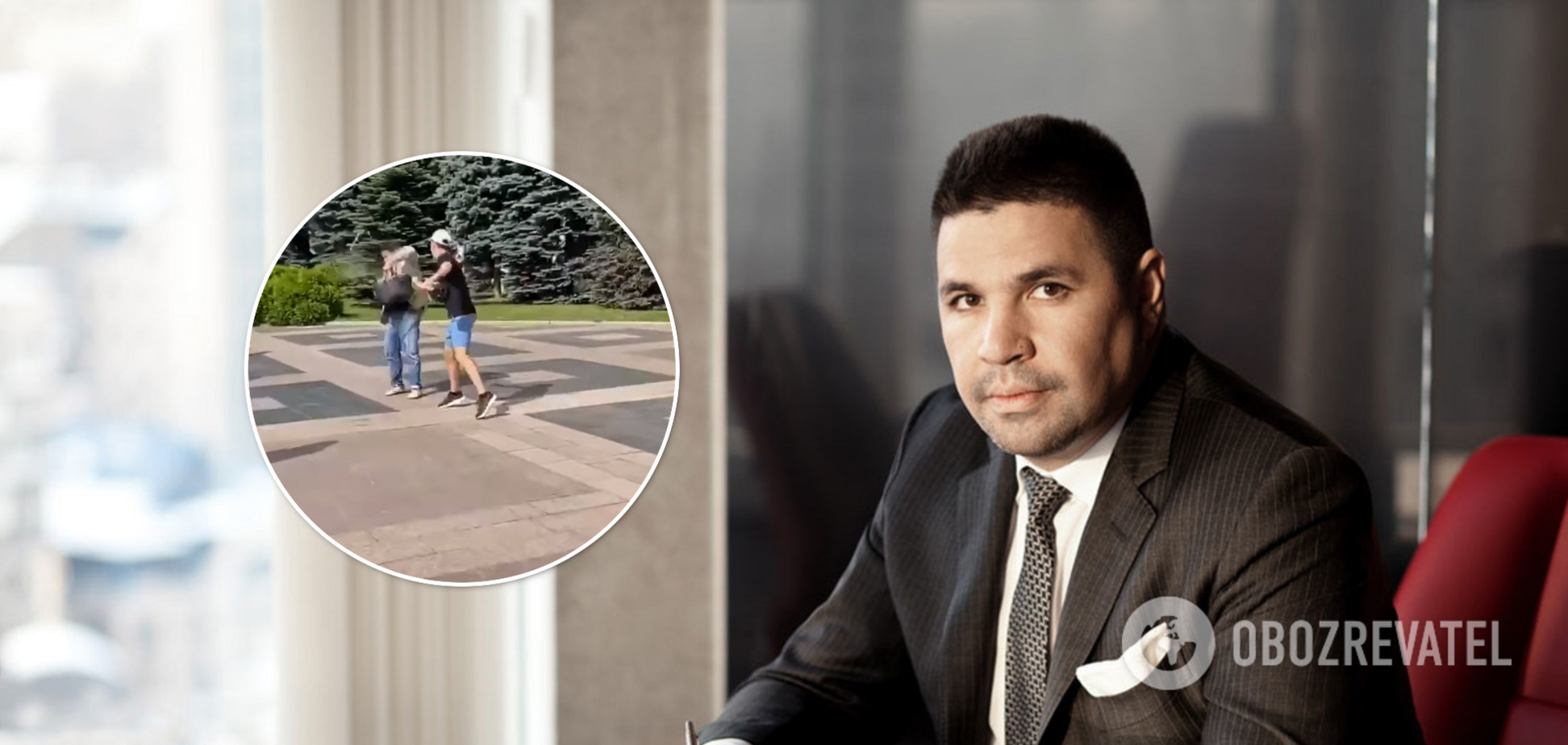 В Харькове депутата облили мочой: политик пожалел пиджак Brioni. Видео