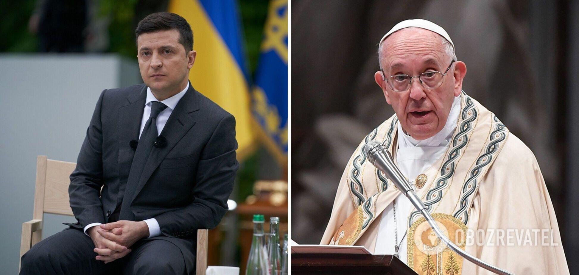 Володимир Зеленський і Папа Римський Франциск