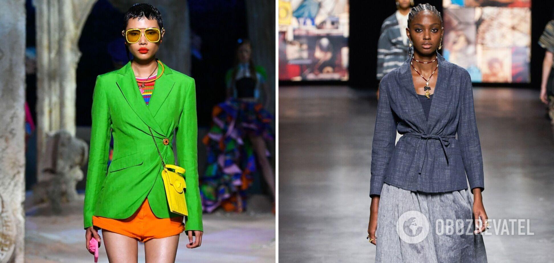 Модні лляні жакети на літо 2021