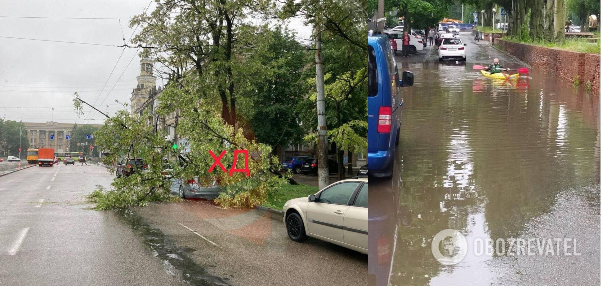 Днепр затопило после дождя