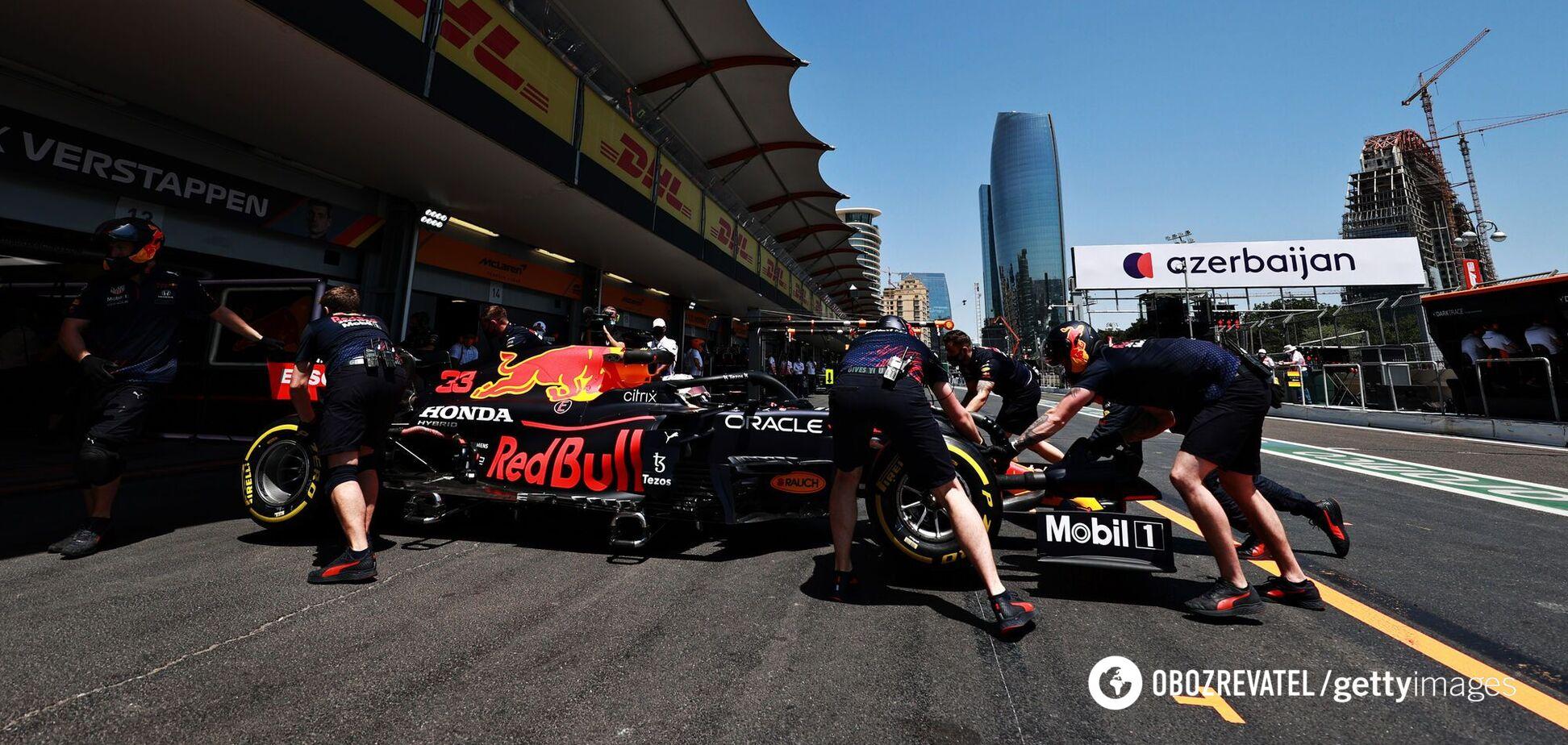 Піт-стоп команди Red Bull