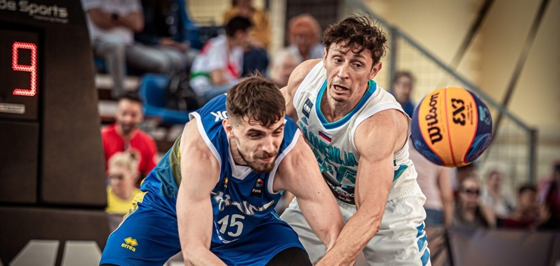 Антон Давидюк в матче против Словении