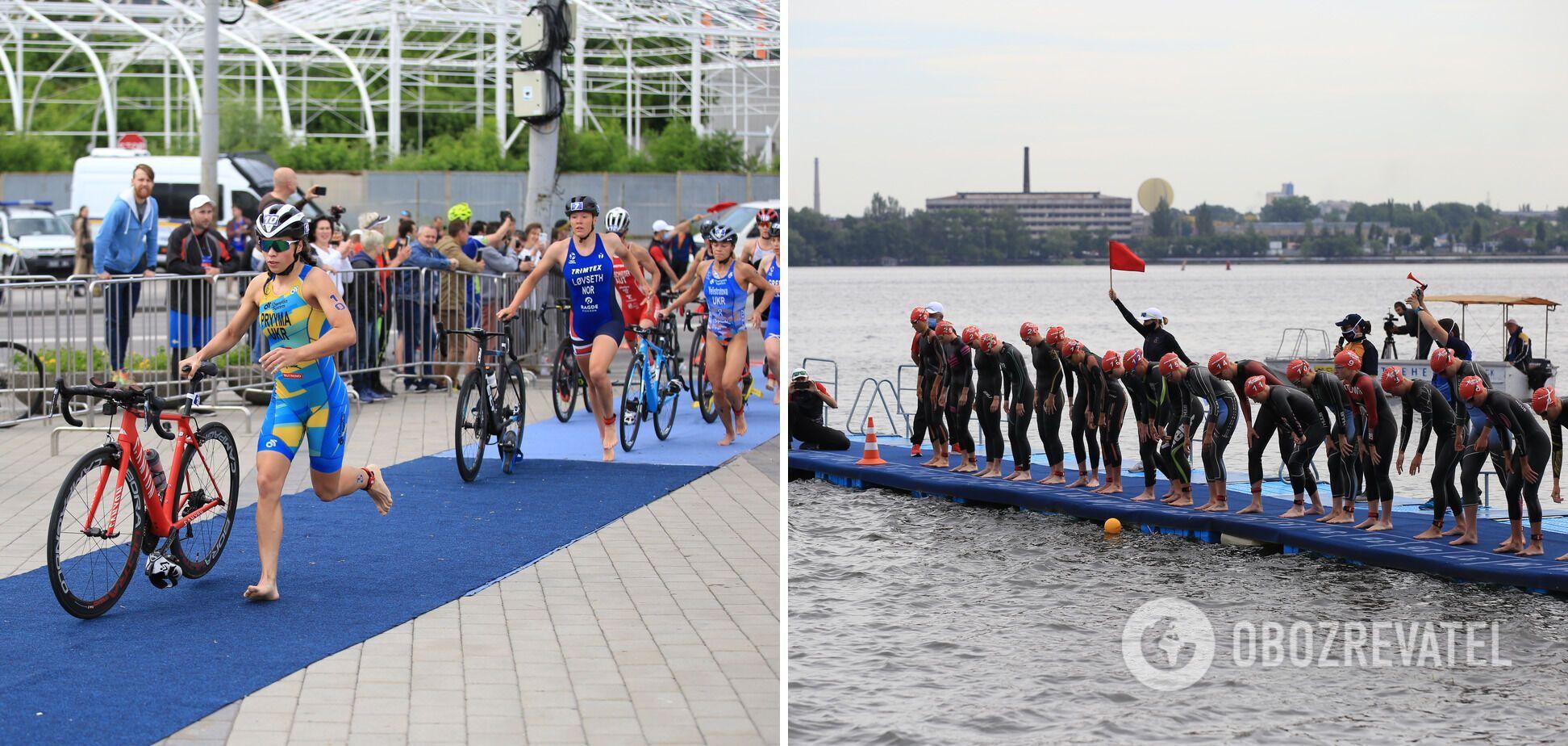 В Днепре стартовали двухдневные международные соревнования по триатлону