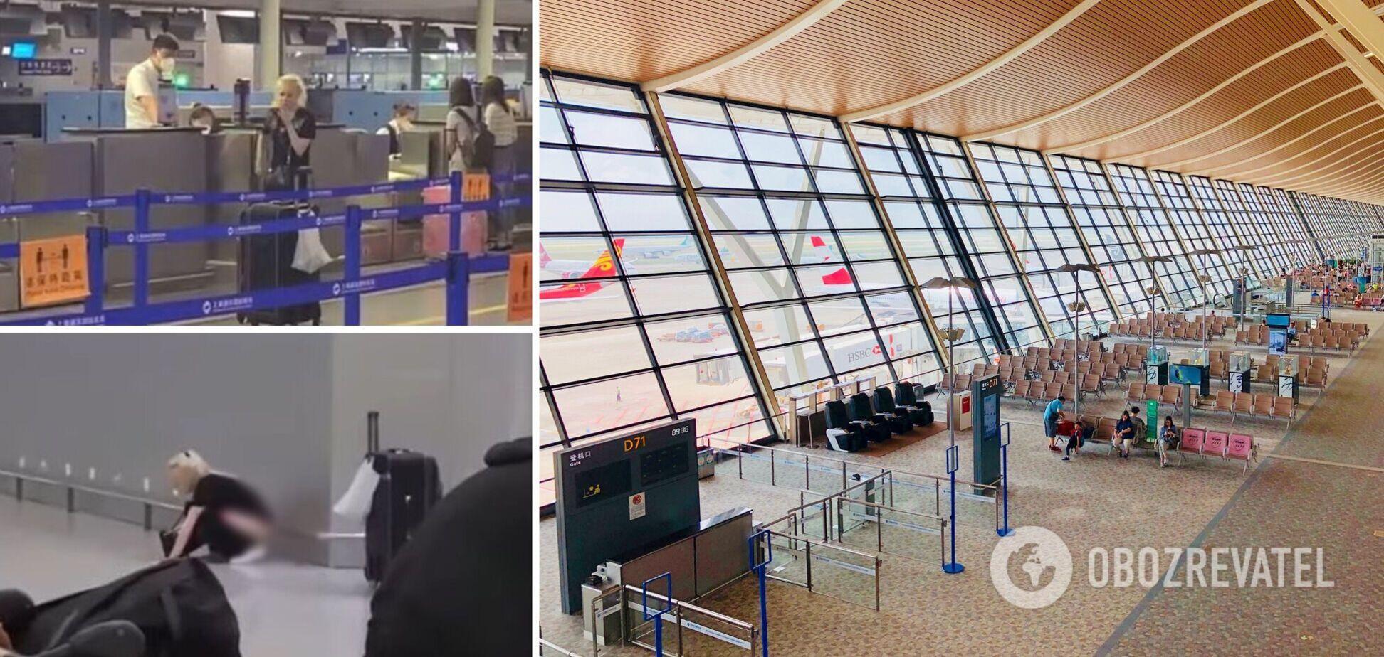 Россиянка устроила скандал в аэропорту Китая и справила нужду на глазах пассажиров. Видео