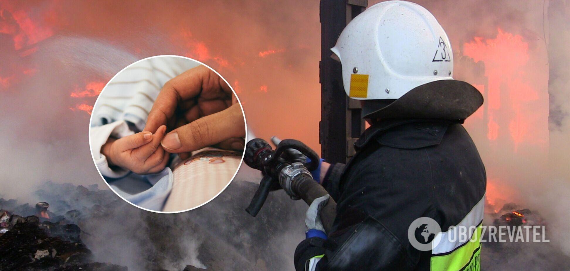 У приватному будинку під Харковом спалахнула пожежа, жінка з немовлям потрапили до лікарні. Фото