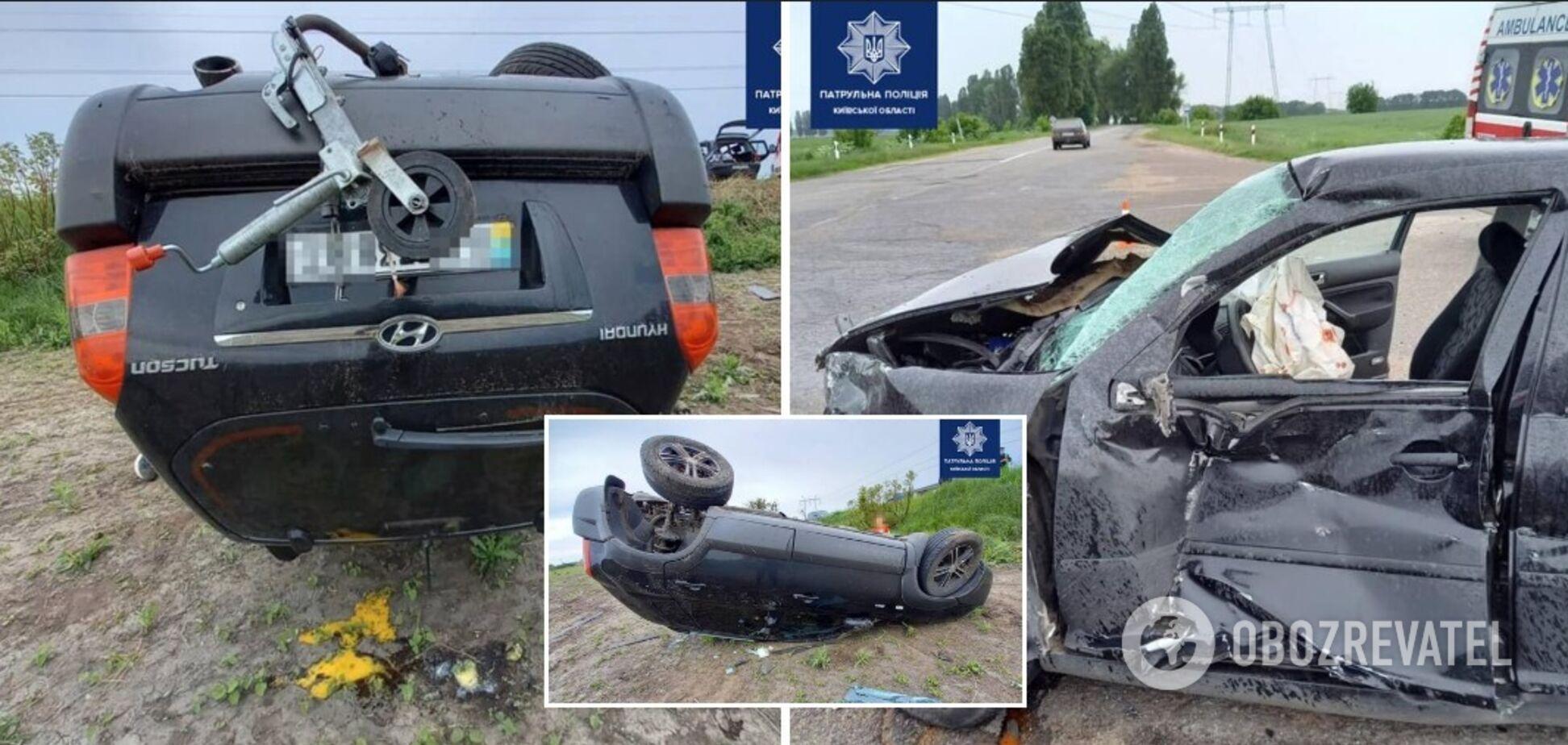 На Киевщине в результате ДТП травмировались дети