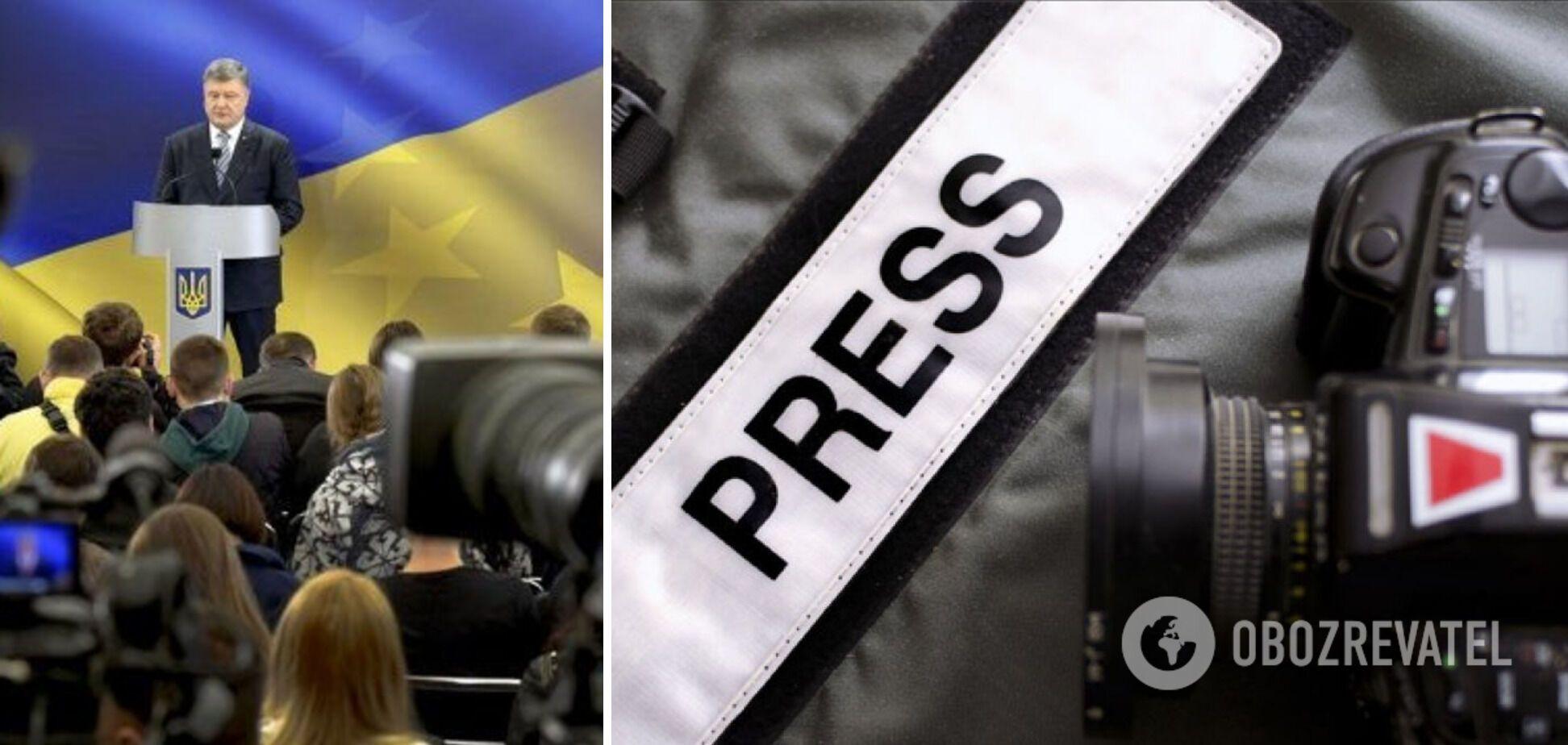 Порошенко привітав українських журналістів і подякував за донесення 'голосу правди'