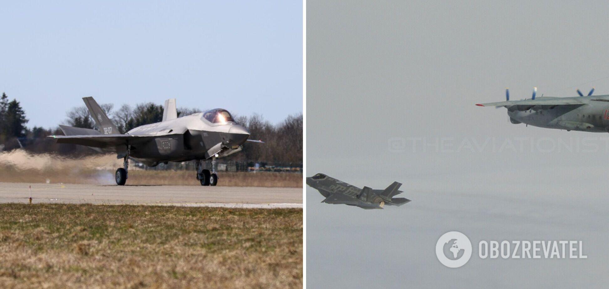 Итальянский истребитель перехватил российский Ан-12. Фото
