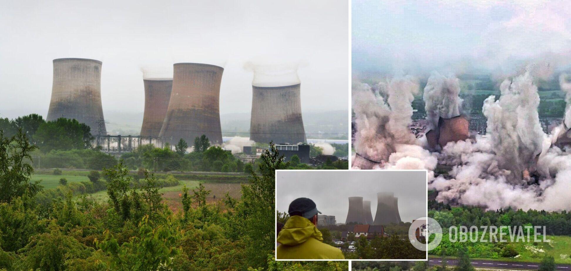 У Британії знесли градирні ТЕЦ Rugeley