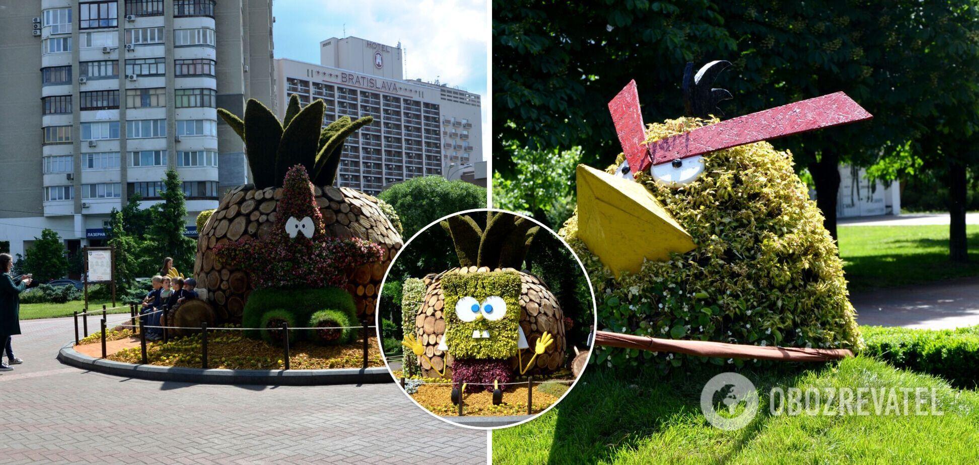 В Киеве в парке 'Победа' поселились персонажи известных мультфильмов. Фото