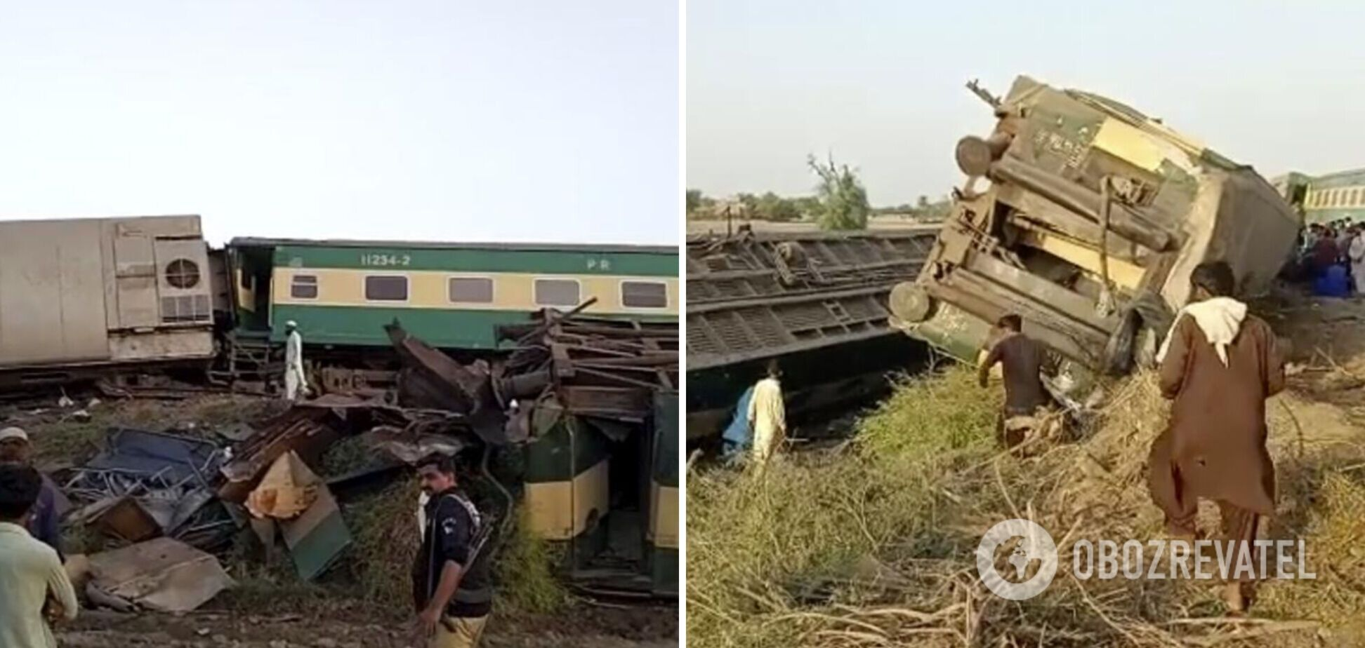 У Пакистані зіткнулися два потяги