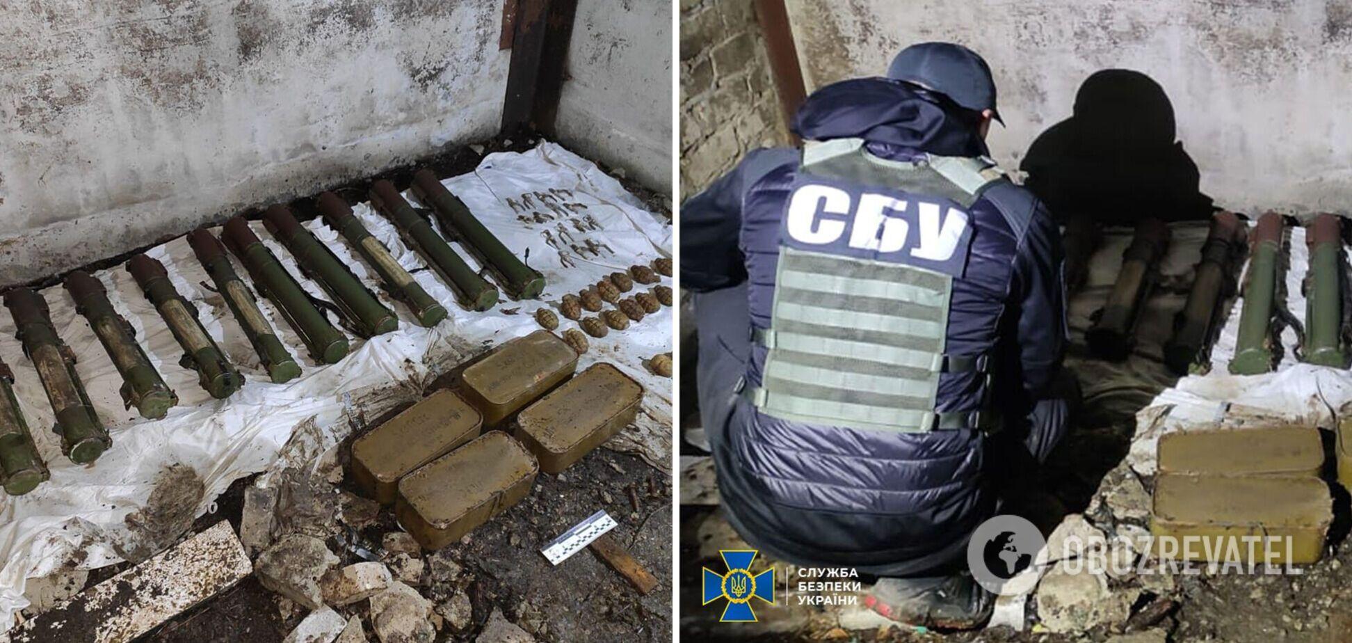 СБУ нашла на Донбассе тайник оружия террористов Гиркина