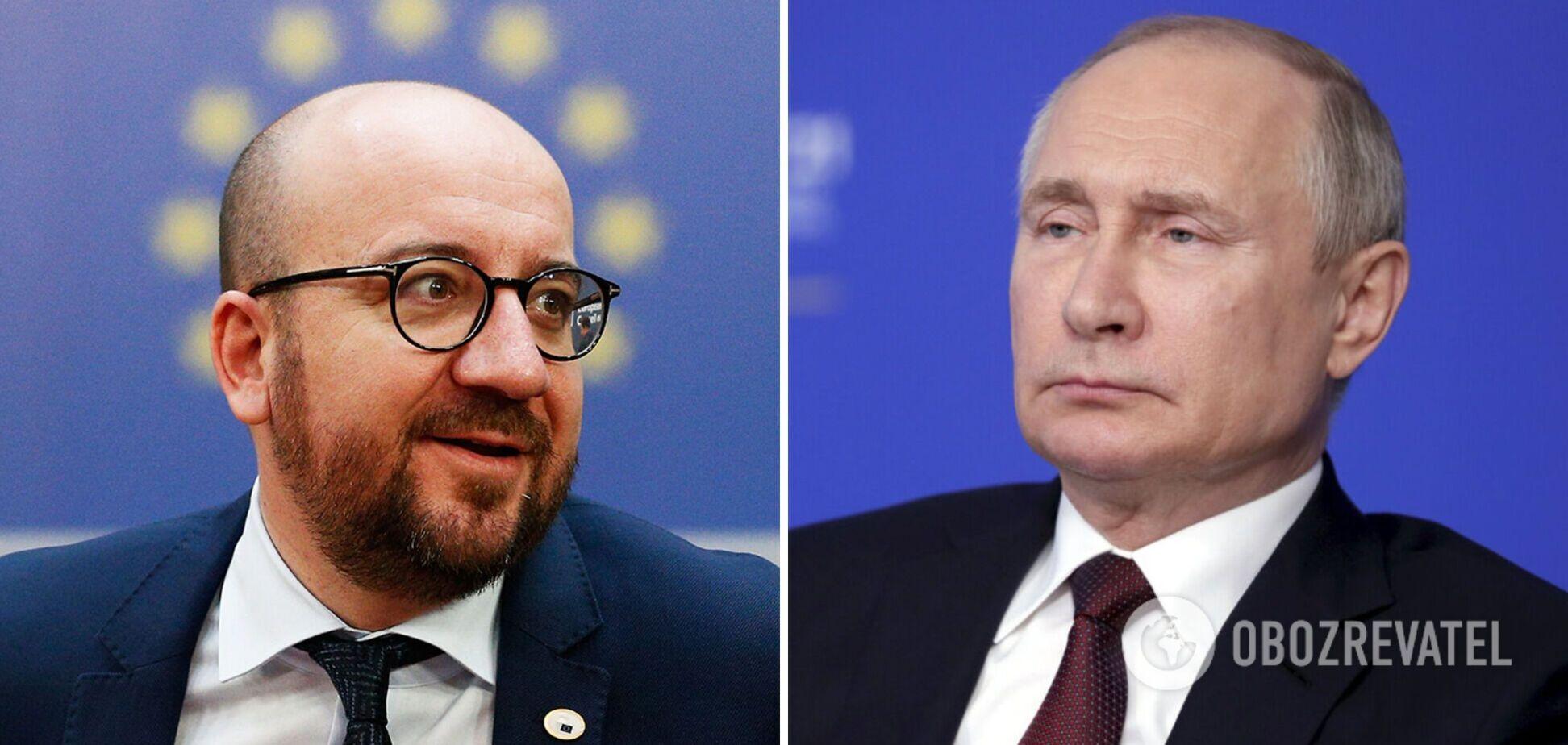 Шарль Мішель і Володимир Путін
