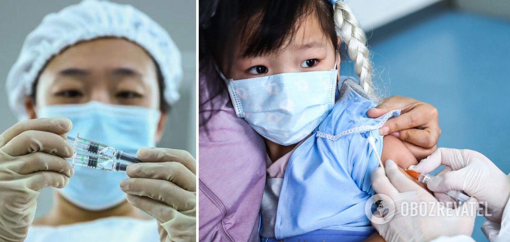 В Китае одобрили вакцинацию детей от 3-х лет против COVID-19