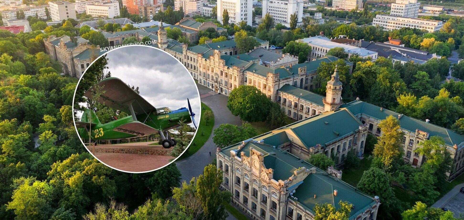 В Киеве возле КПИ установили памятник знаменитому самолету-рекордсмену АН-2