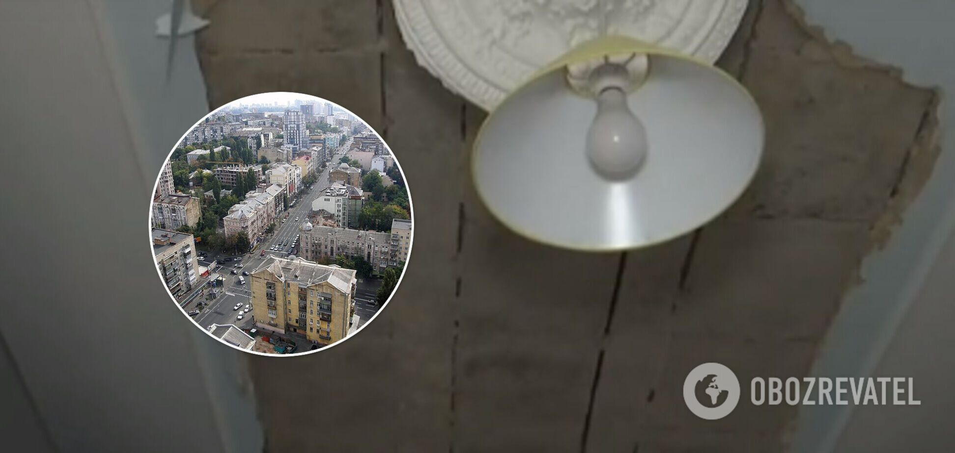 В центре Киева обвалился потолок старинного дома: женщина получила травмы головы. Видео