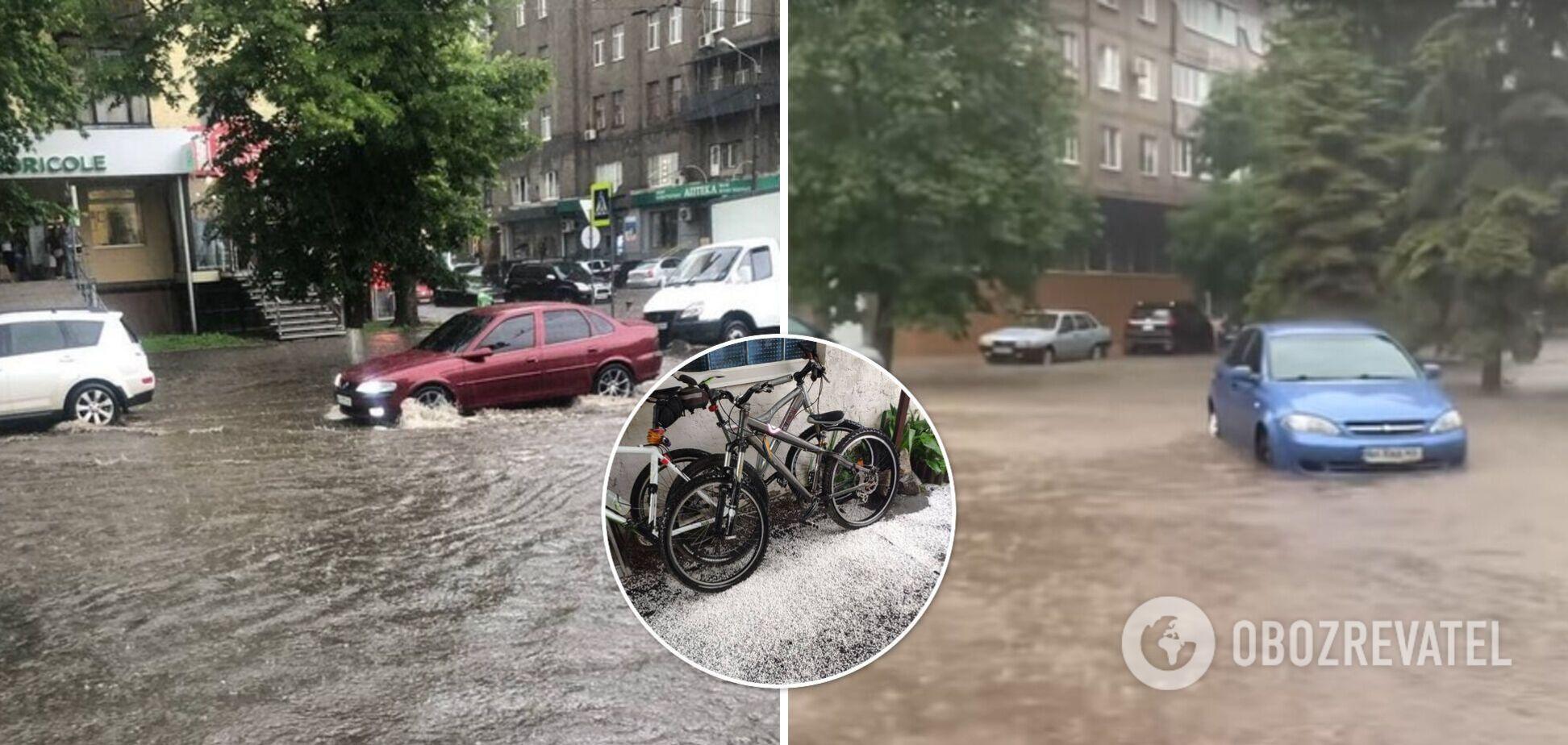 В Харькове пошел град, а Мариуполь и Полтаву затопило. Фото и видео сильной непогоды