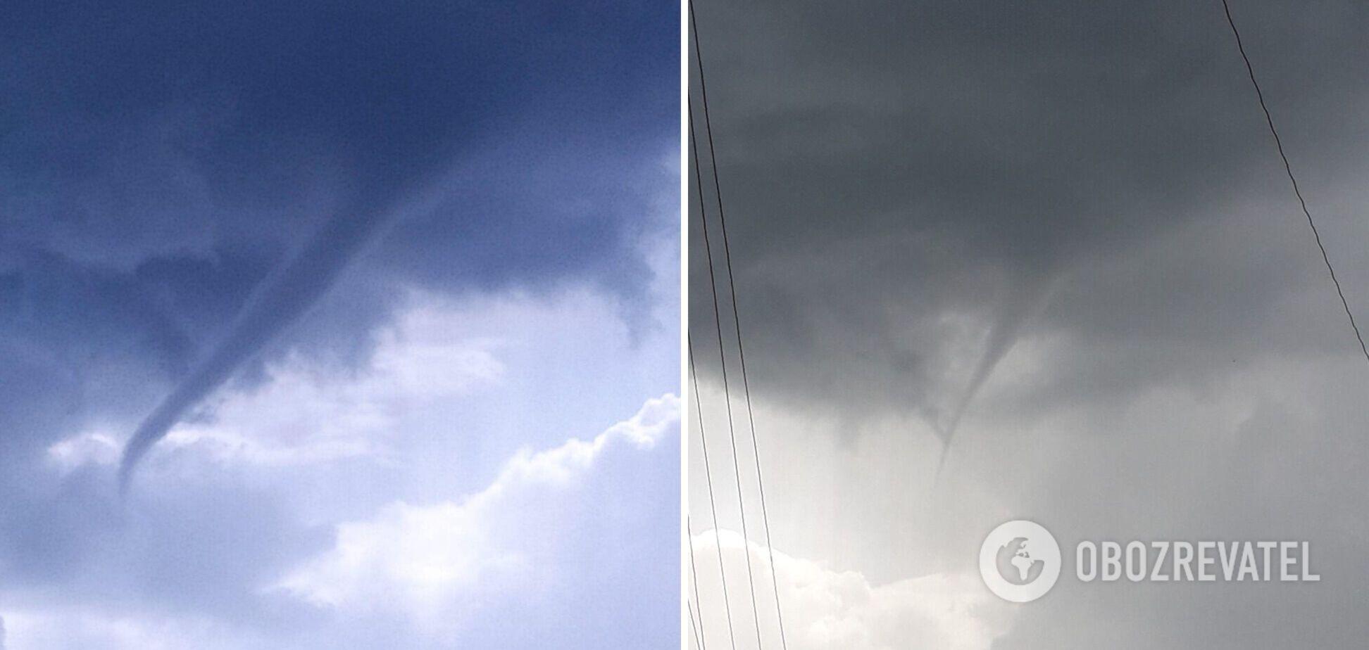 На Днепропетровщине засняли в небе большой смерч. Фото
