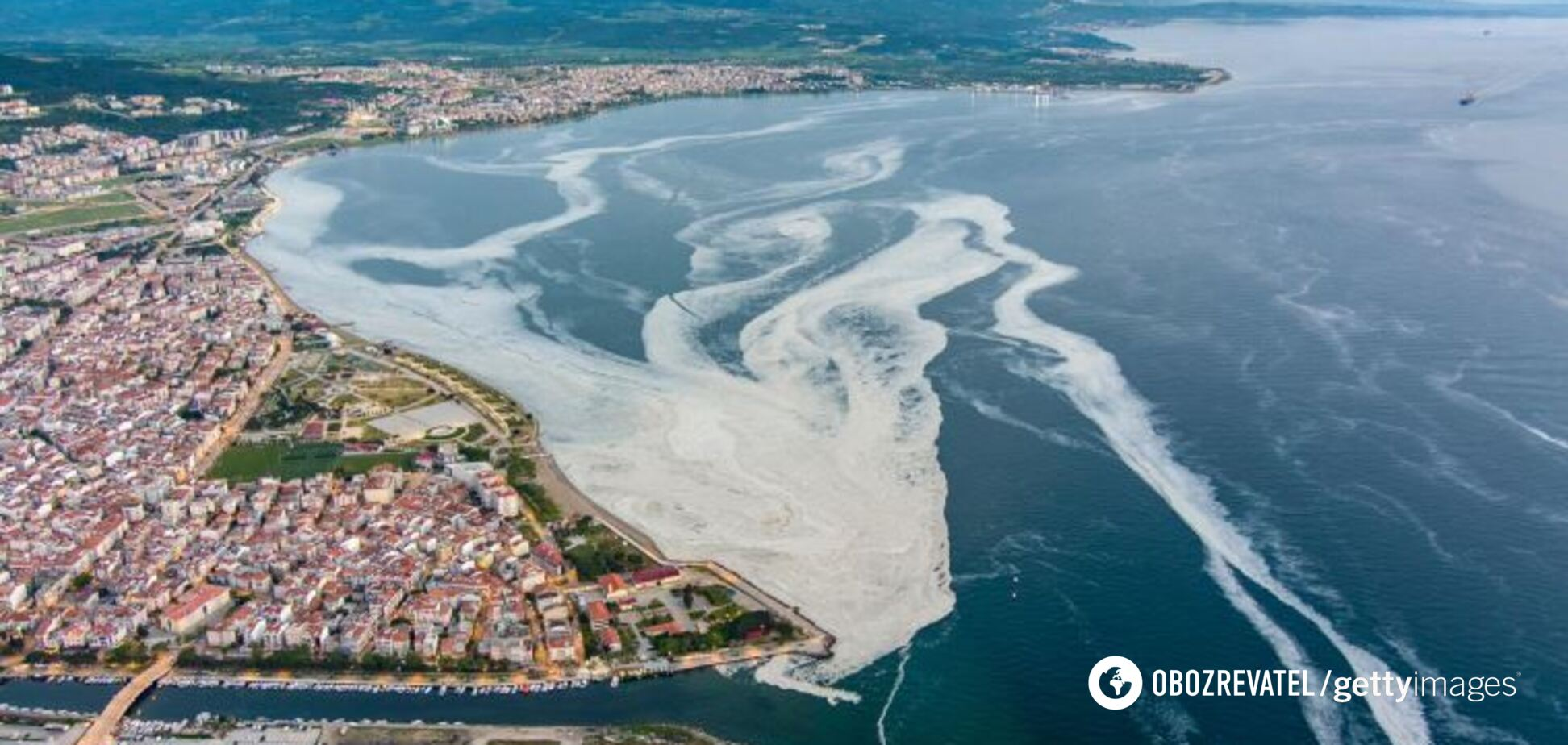 Море в Турции накрыли ''морские сопли''