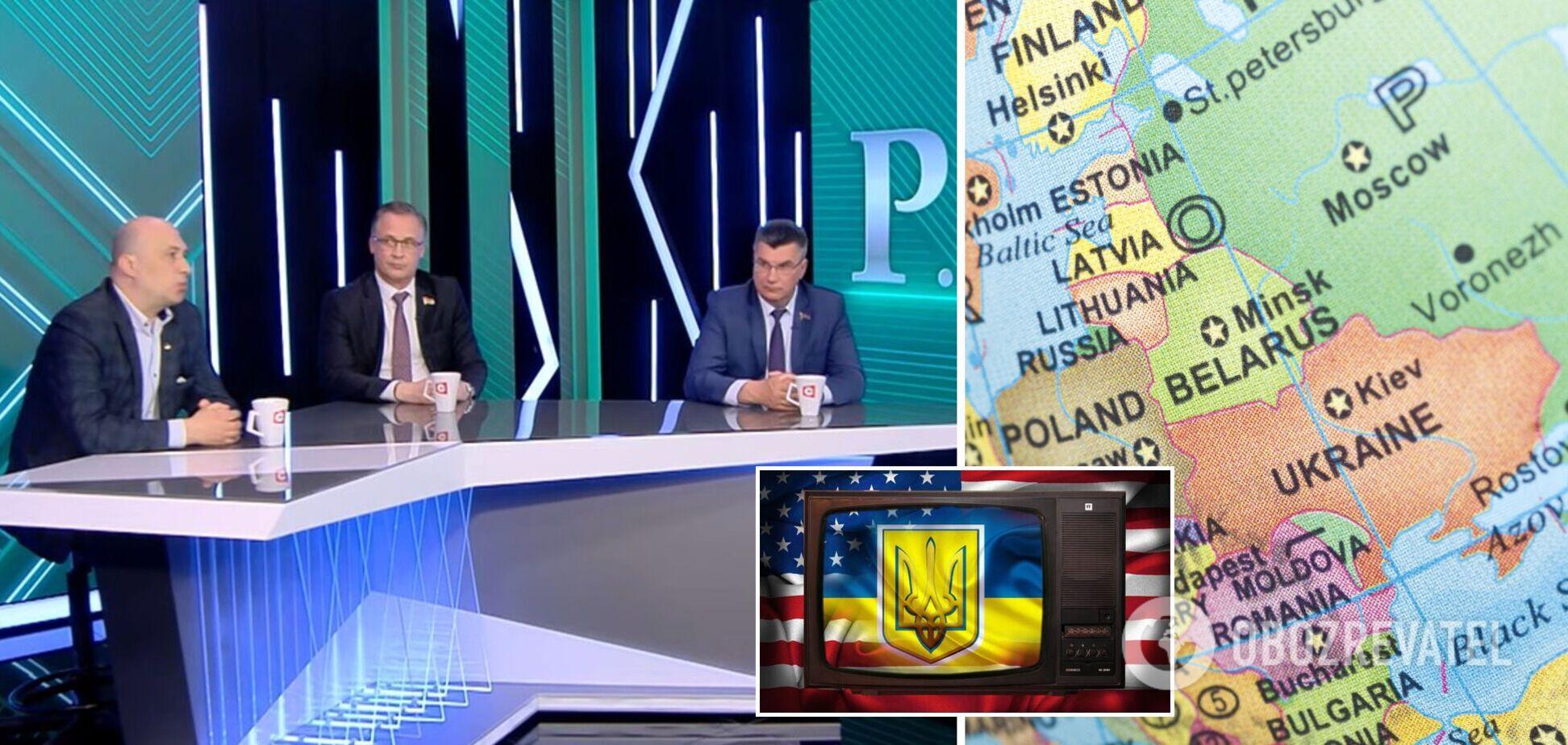 Пропагандисти в Білорусі заявили, що 'вся Україна, крім Донбасу, окупована'. Відео