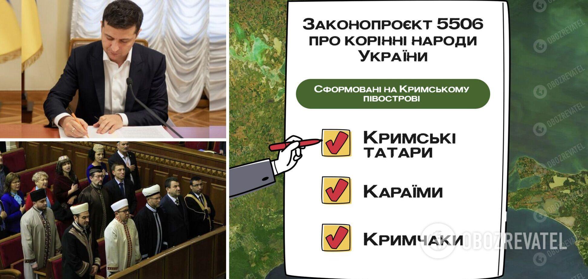 Зеленский подал законопроект о коренных народах Крыма