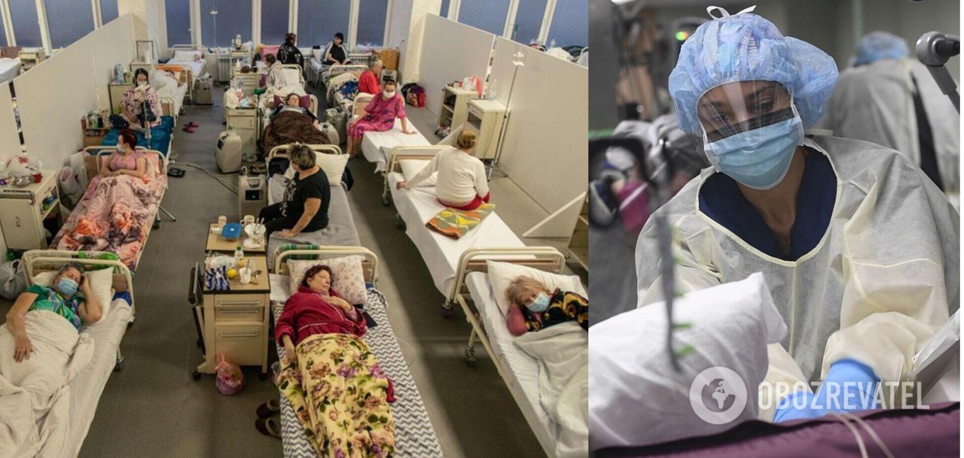 По Украине 499 пациентов подключены к аппаратам ИВЛ