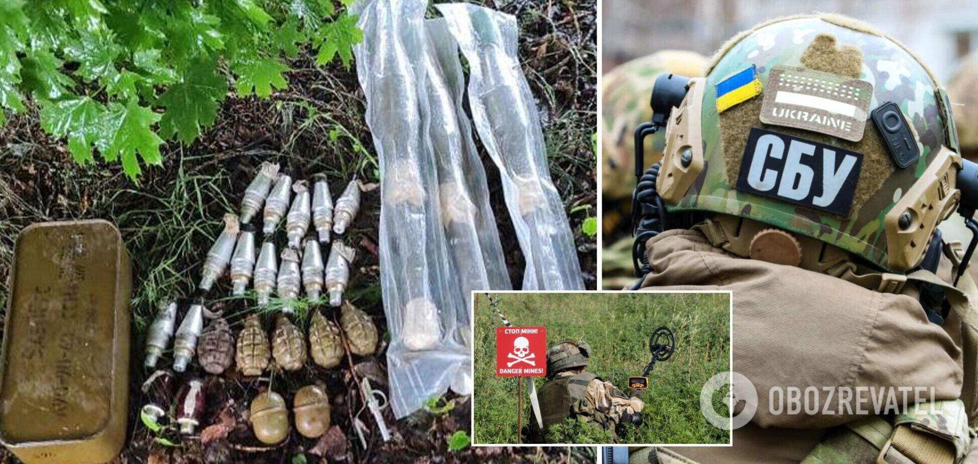 На Луганщині виявили три схрони з боєприпасами найманців РФ. Фото