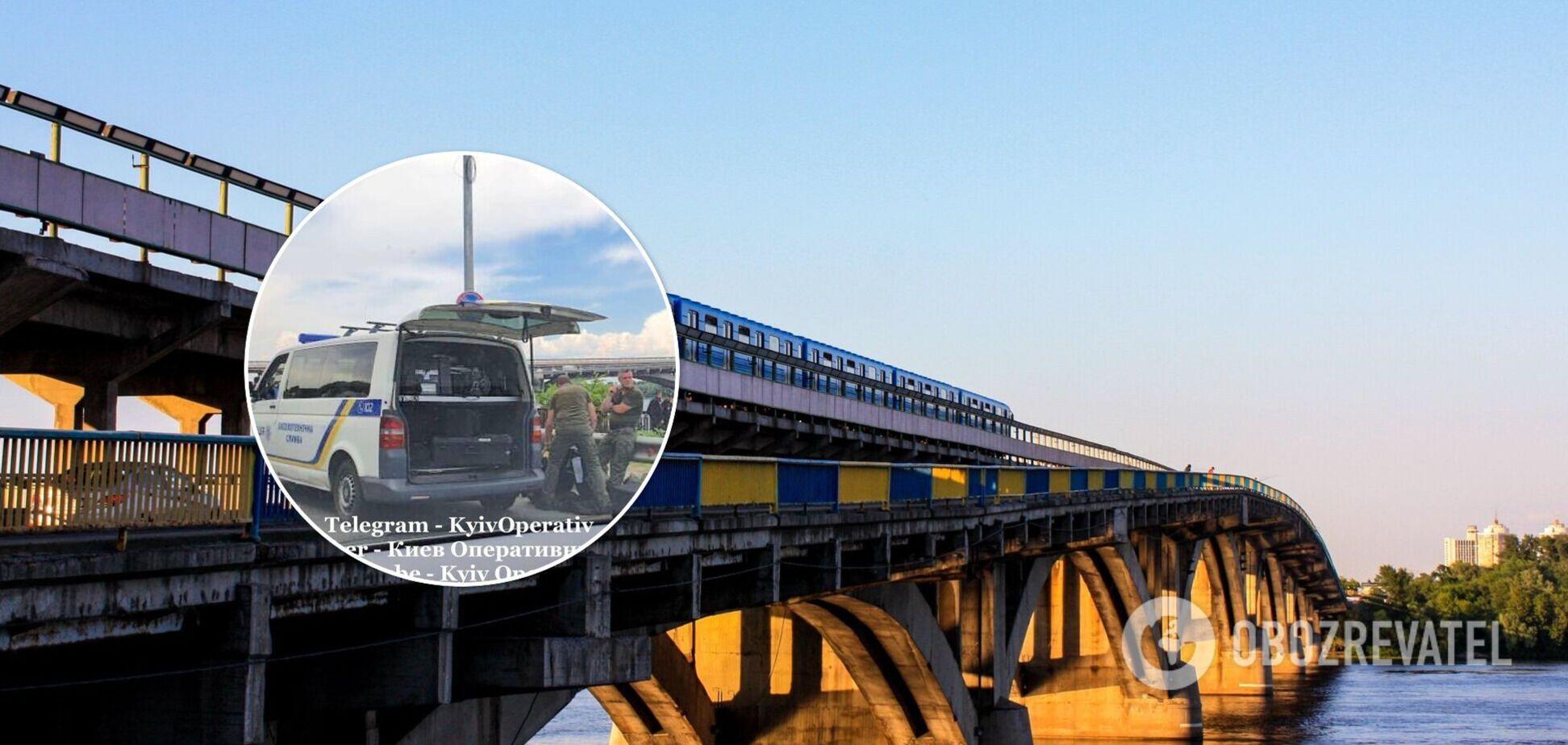 У Києві через підозрілий предмет перекривали міст Метро