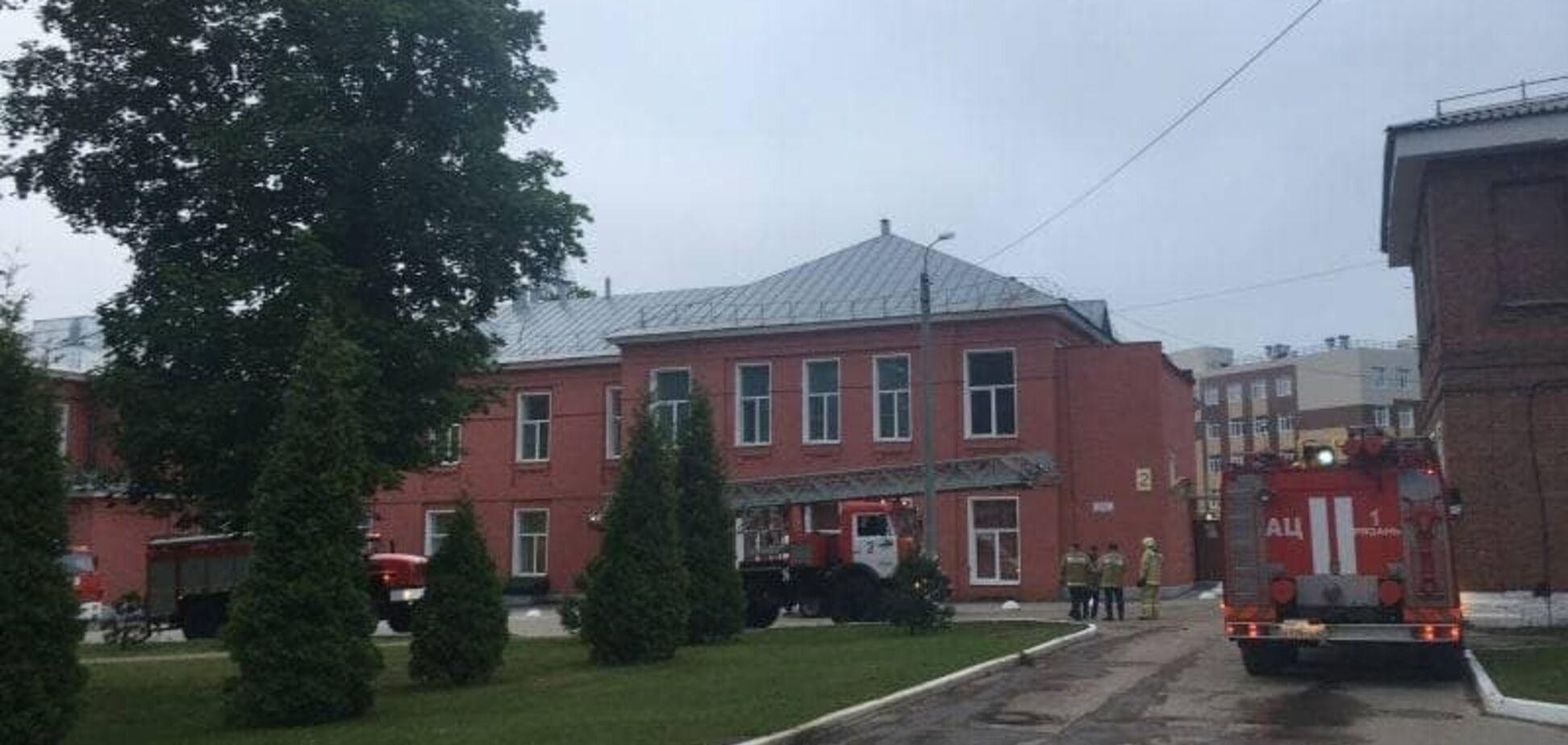 Пожар в больнице в Рязани