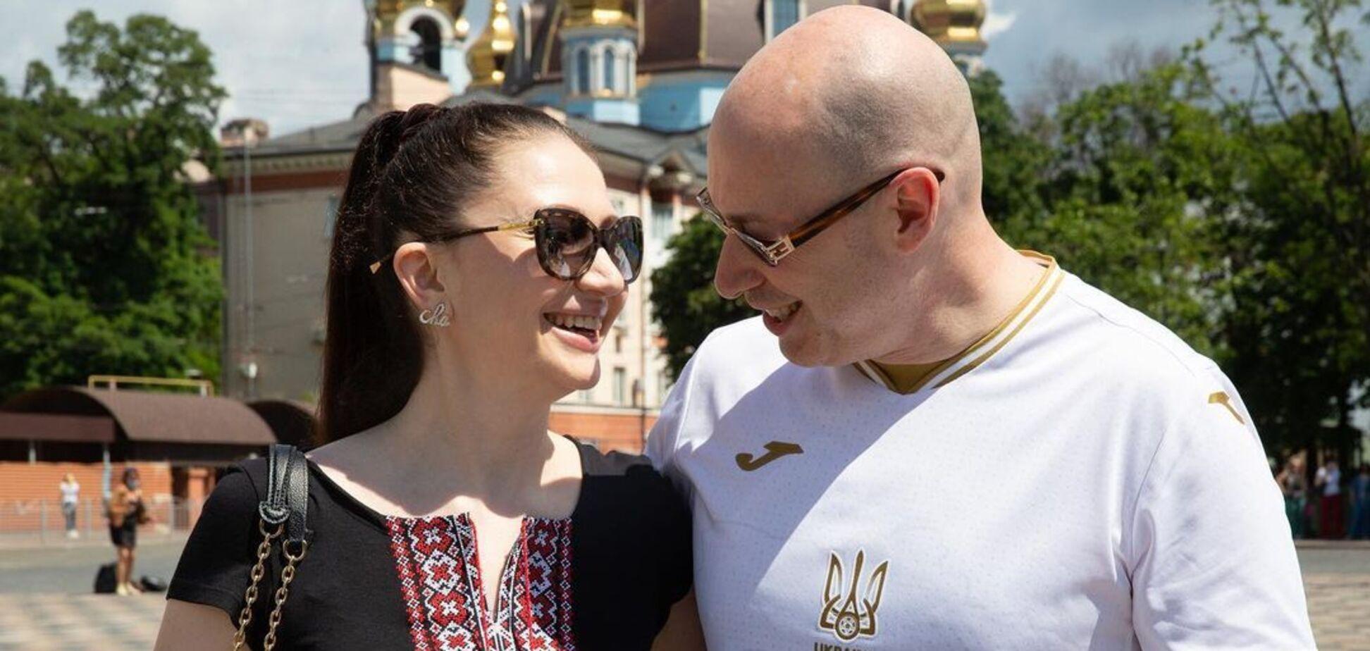 Відомий український телеведучий Дмитро Гордон з дружиною