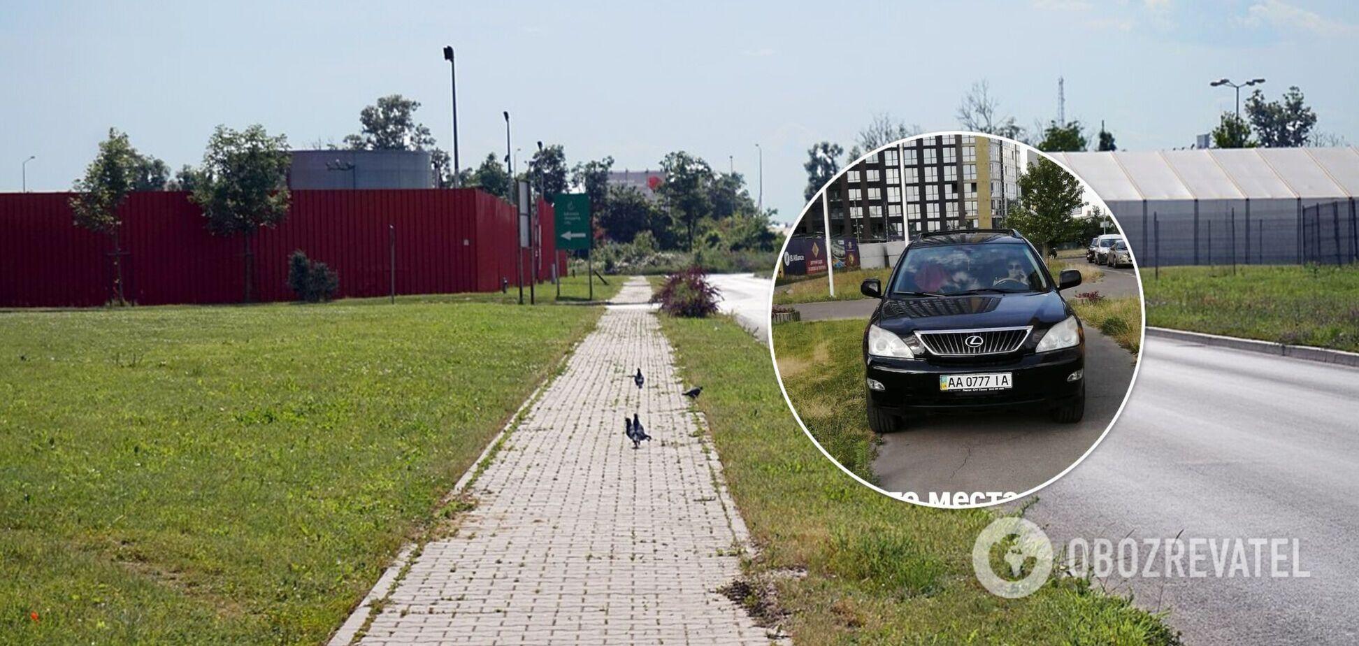 Авто було припарковане з порушенням ПДР