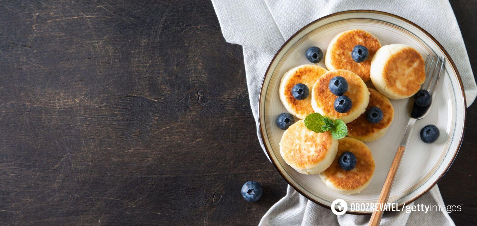 Сирники в духовці без борошна й цукру