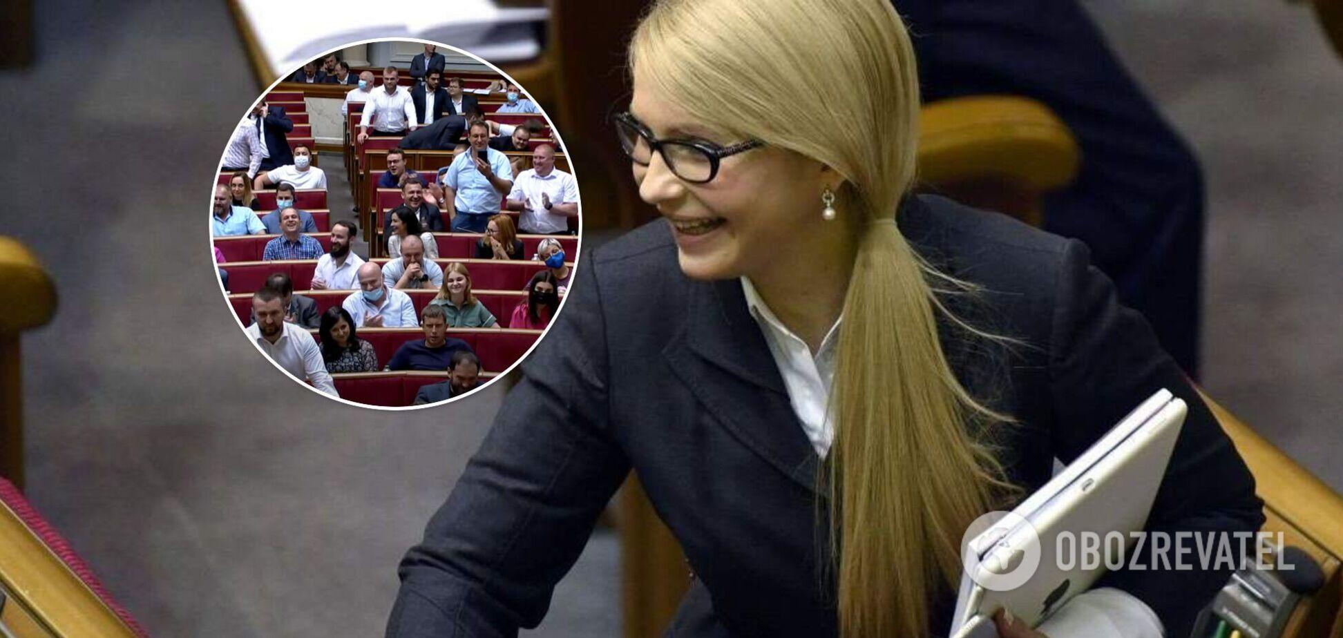 Тимошенко викликала в Раді вибух сміху словами про себе та олігархів. Відео