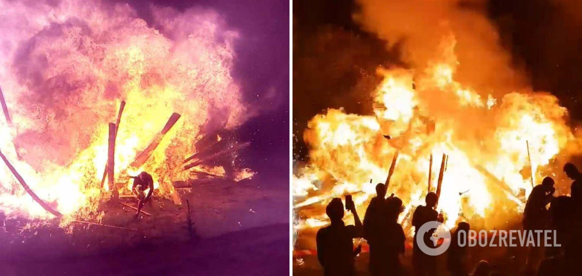 В Коростене вспыхнул пожар
