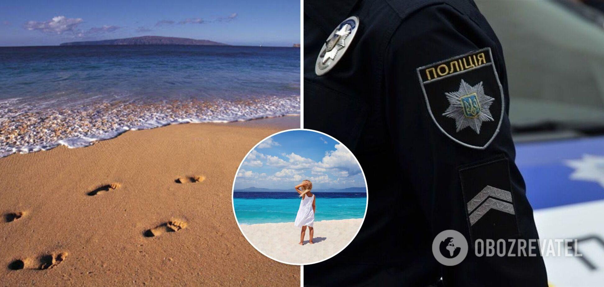 У Лазурному дівчинка заблукала на пляжі й пройшла 7 км до сусіднього курорту. Фото