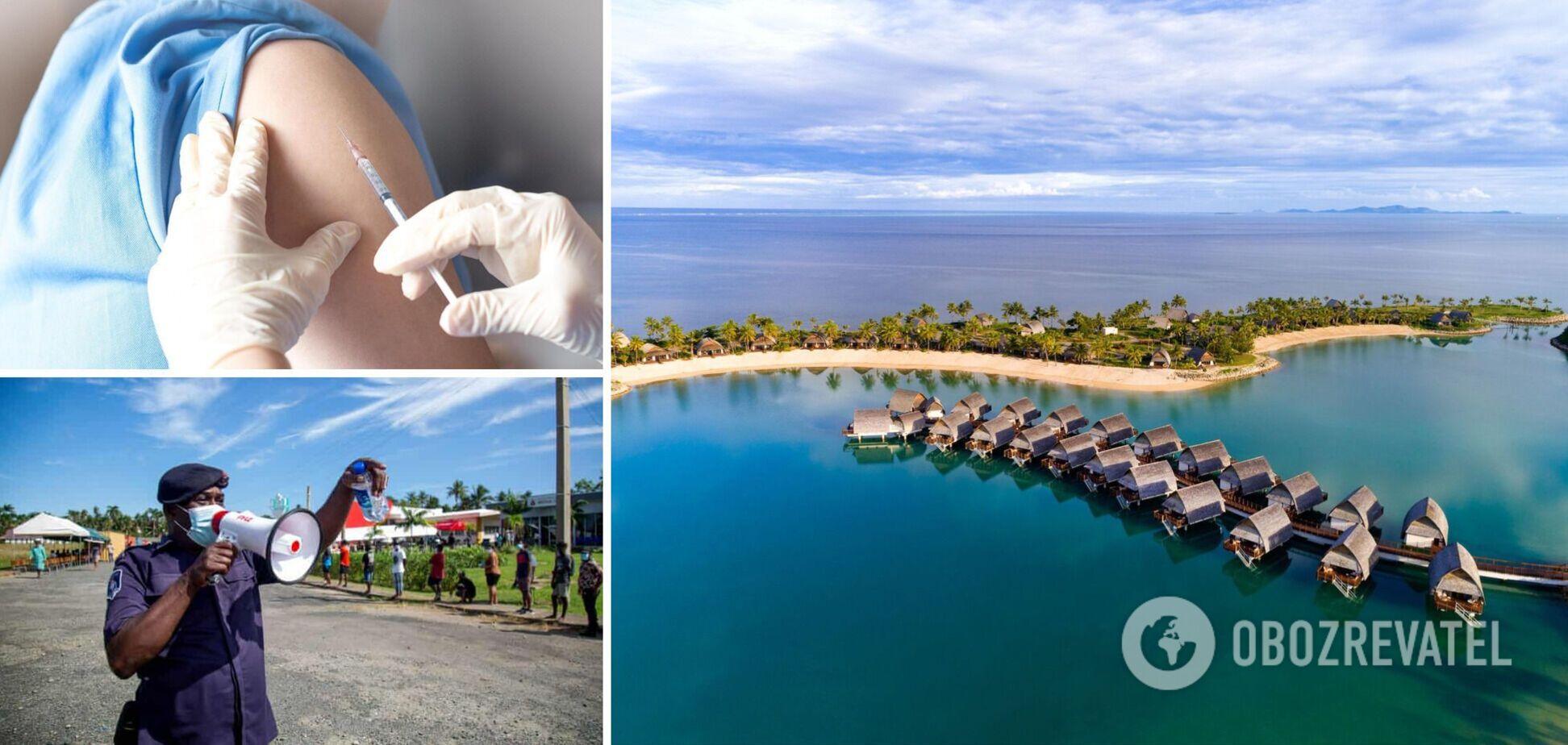 На Фиджи вакцинацию от COVID-19 сделали обязательной: непривитым запретят работать