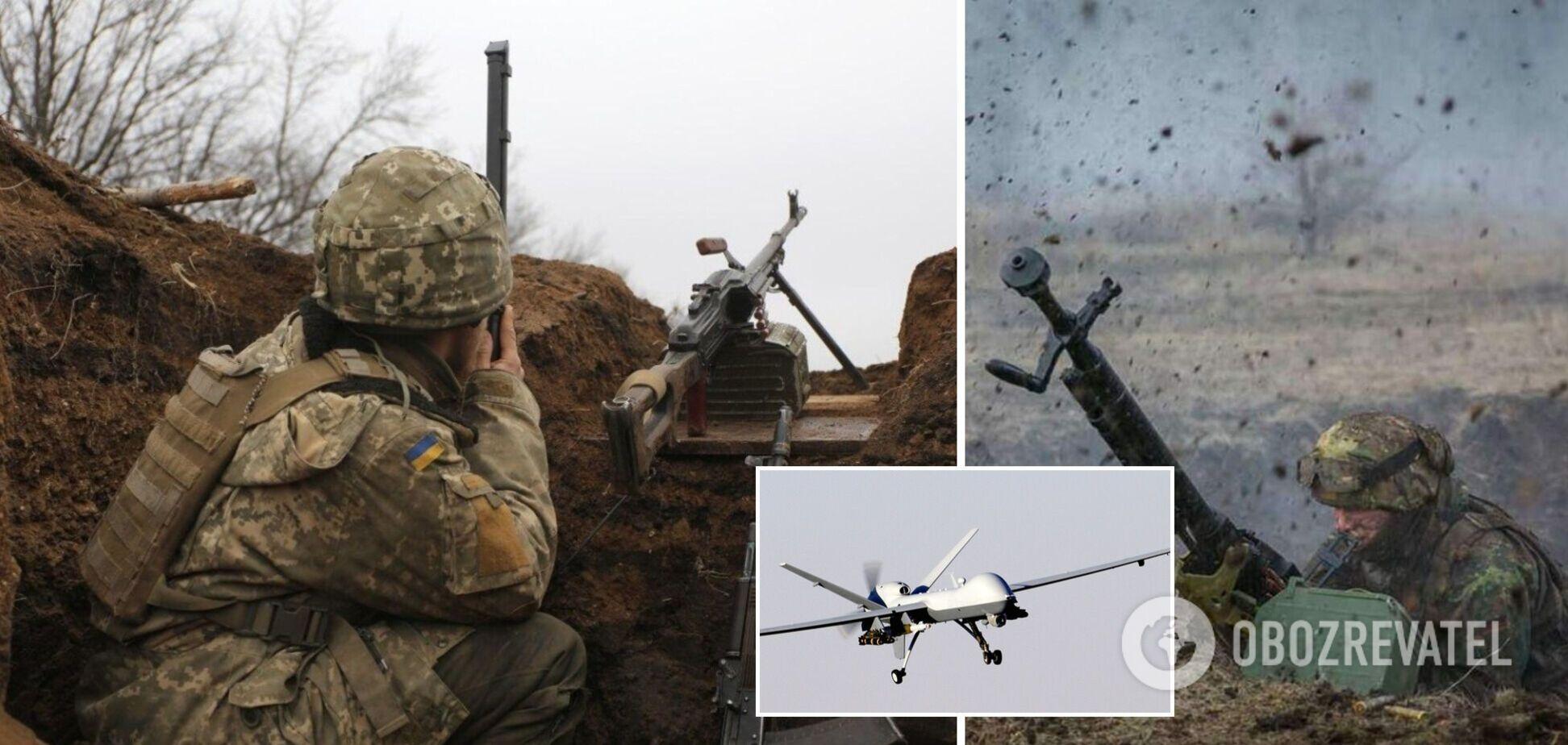 Оккупанты обстреляли ВСУ на Донбассе из гранатометов и запустили беспилотники